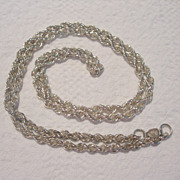 Mexican Sterling Twisted Chain Necklace
