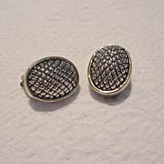 Vintage Silver Toned Clip Earrings