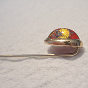 Vintage Dichroic Glass Stick Pin