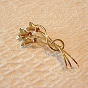 Vintage Curtis Jewelry Mfg. Co. Gold Filled Flower Brooch