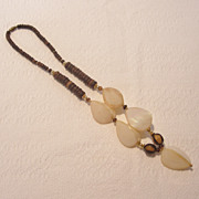 Necklace Comprised of Natural Materials Seed Pods and Seeds