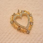 Vintage Trifari Heart Pendant