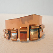 Vintage Renoir Copper Cuff Bracelet Signed