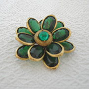 Vintage Corocraft Flower Brooch