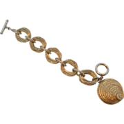 Nettie Rosenstein Signed Stacked Coin Bracelet