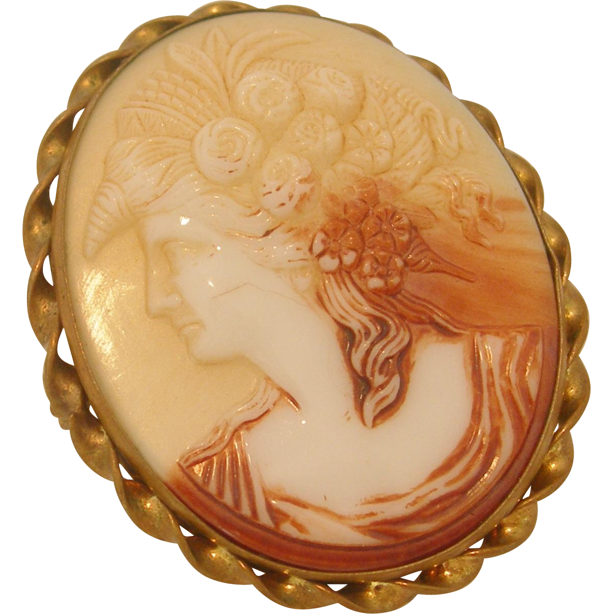 Vintage Ceramic Cameo Brooch From Dorothysbling On Ruby Lane