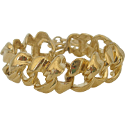Vintage Gold tone Metal Givency Bracelet