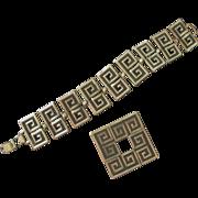 Vintage Danecraft Silver Bracelet and Brooch Set