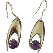 Vintage Sigi Pineda Silver and Amethyst Earrings