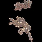 Vintage Krementz Brooch and Earring Set