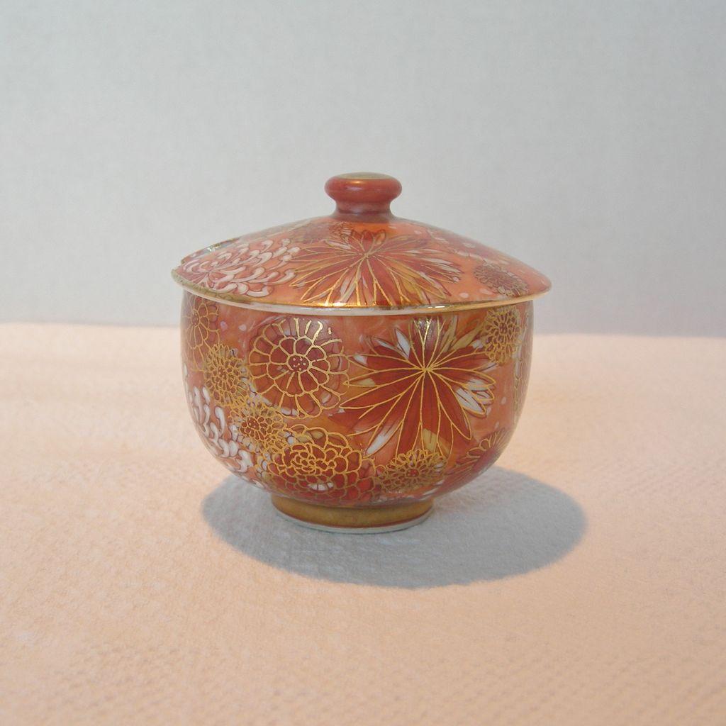 Kutani Covered Sugar Bowl