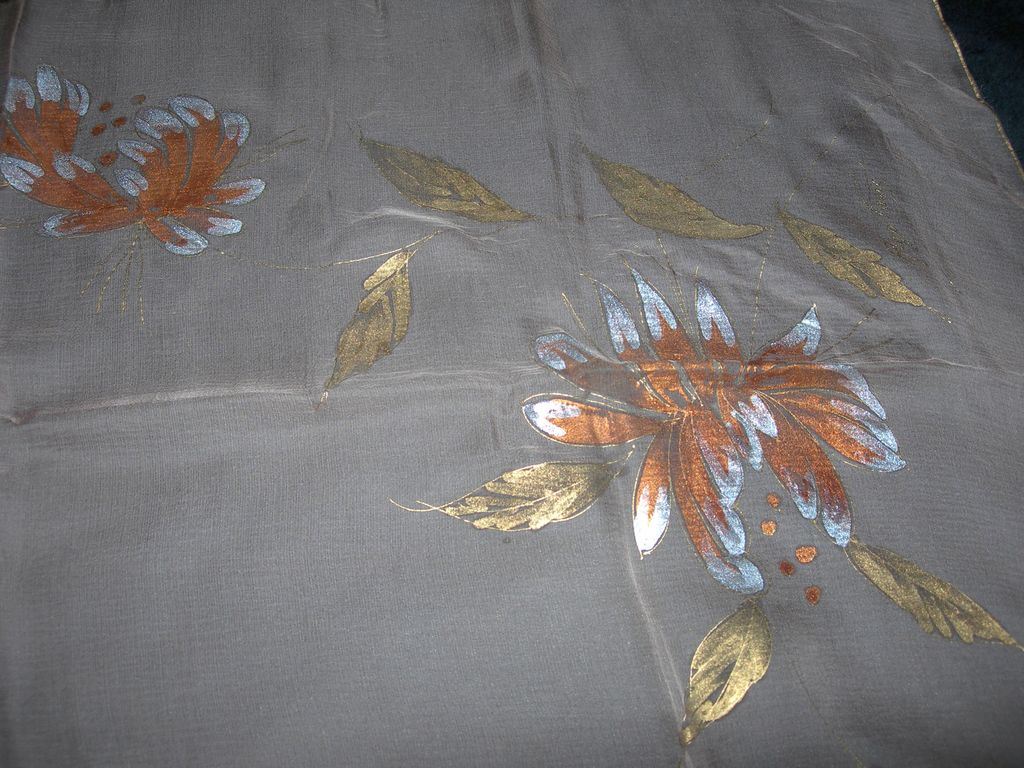 Hand- Painted Sheer Scarf