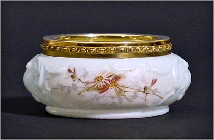 Antique Wavecrest Dresser Jar - Pin Dish - Hand Painted and Molded