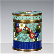 Lidded Chinese Cloisonne Jar / Container