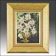 Mid Century Still Life of Flowers - J. Dougherty - Oil - 'Mad Men' Era