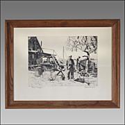 Lionel Barrymore Photo Etching Print - Point Magu - Point Mugu