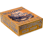 Vintage Milk Duds Box - Holloway's Milk Duds Counter Display Box - 1920's - 1930's -  Americana - General Store