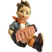 "Vintage Hummel #390 BOY with ACCORDION Figurine Tmk 5 Goebel W. Germany 2-3/4"" T"