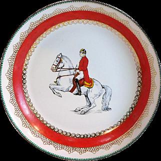 Vintage ROYAL LIPIZZANER HORSE & Rider Enamel on Metal Dish HM Made In Austria