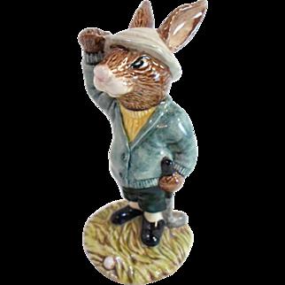 Vintage Royal Doulton BOGEY BUNNYKINS Figurine - Golfer Rabbit Looking For Ball