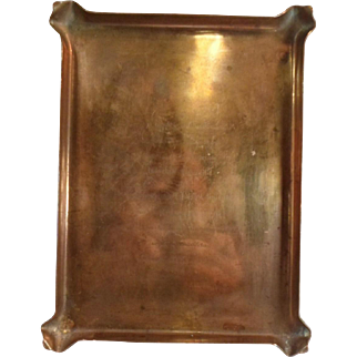 1918 Copper WEDDING ANNOUNCEMENT TRAY Monstone Farm Ipswich Mass Whitwell Moseley