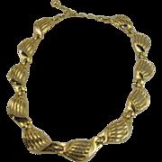 Trifari Necklace Wave like gold-tone