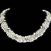 Trifari Silver-tone Necklace spray design