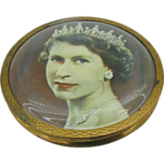 Made in England Queen Elizabeth Coronation compact