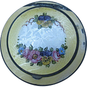 Yellow Guilloche Compact with beautiful floral design