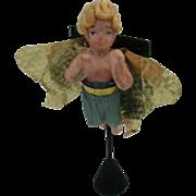 German Wax Angel ornament RARE