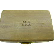 Old medical wooden Box marked M.D U.S.A