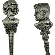 Collector spoons J.F.K and Jackie Kennedy