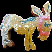 Wooden Donkey pin World War 2 era