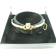 Gold filled Claddagh bracelet in original box