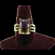 14K gold Ametrine Ring size 9