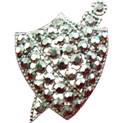 Weiss Black on Black Sword and Shield Brooch