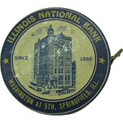 Illinois National Bank Dime Bank early 1900's Celluloid