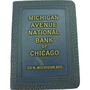 Vintage Book Bank Michigan Avenue National Bank of Chicago