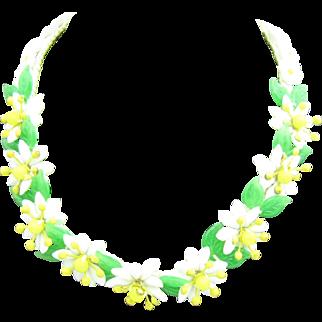 West Germany Glass Daisy necklace