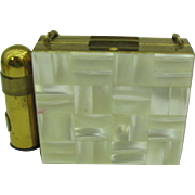 Mother of Pearl Dance Compact or Carryall with lipstick (LAST CHANCE)