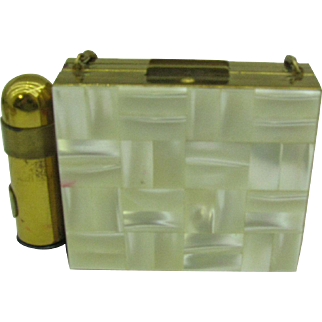 Mother of Pearl Dance Compact or Carryall with lipstick