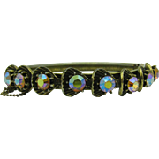 Great Bangle hinged Bracelet with AB stones