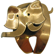 Copper Elephant Brooch Whimsical