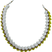 Very unusual Two tone glass Kramer Necklace