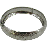 Sterling silver wide bangle Italy 925