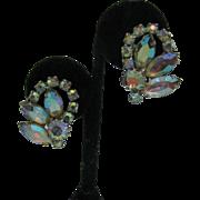 WEISS AB rhinestone clip on earrings