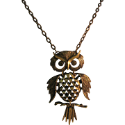 Owl necklace Articulated