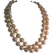 Marvella double strand large lumpy glass pearls