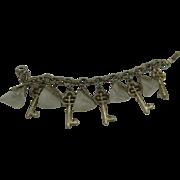 Key and chunk Lucite bracelet