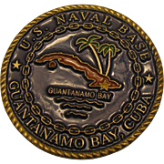NSGB Naval Station/Base Guantanamo Bay GTMO USN US Navy Military Challenge Coin - Red Tag Sale Item